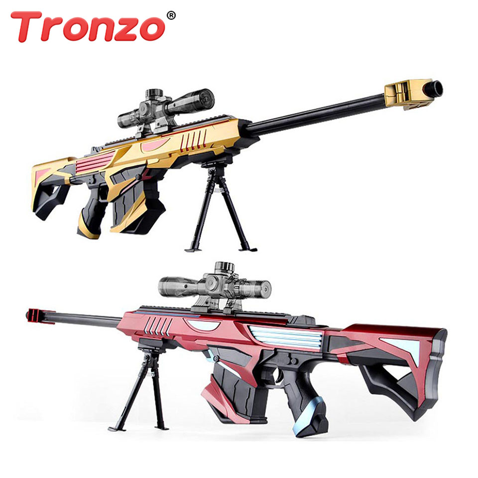 Tronzo 96cm Rifle Soft Bullet Cs Gun Plastic Toys Sniper Rifle Pistol Water Paintball Outdoor Toys Funny Gun Toys For Child mini wrist squirt water gun gaming toys for outdoor