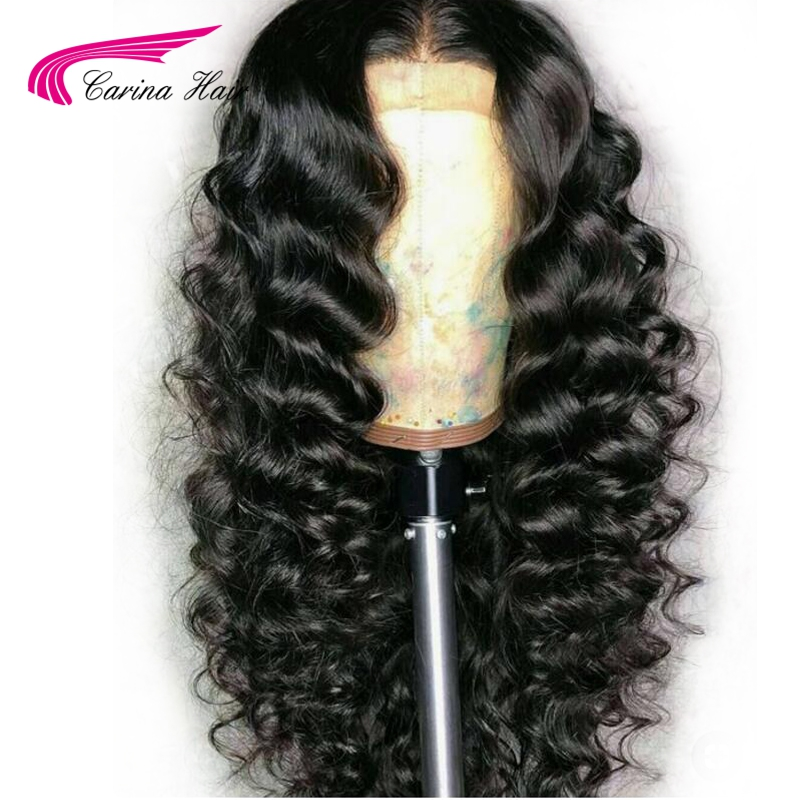 Carina Brazilian Loose Wave Lace Front Human Hair Wigs With Baby Hair Pre Plucked Natural Hairline