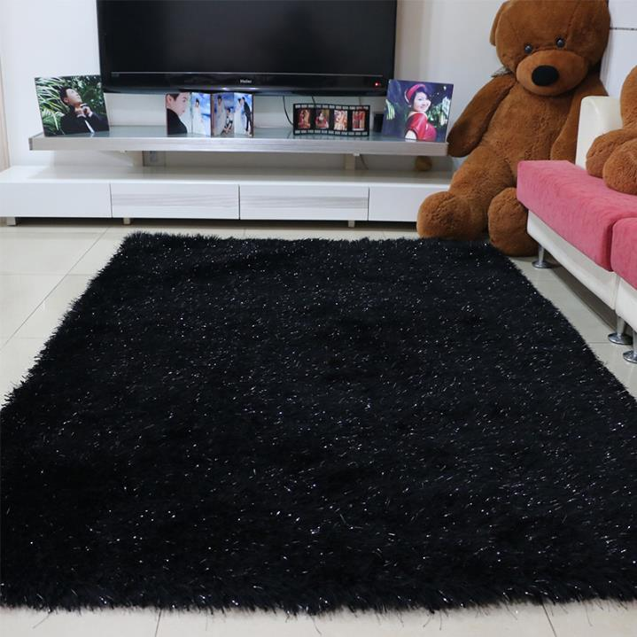 100CM140CM European Simple Thickening Elastic Yarn Carpets For Living Room Luxurious Rugs And