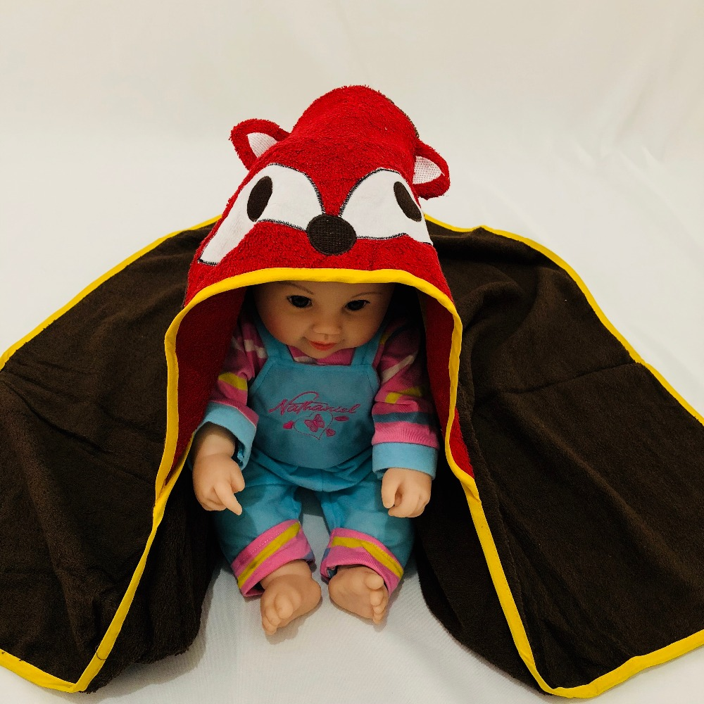 Детское махровое полотенце с капюшоном и изображением животных, халат с изображением животных для малышей, синий От 0 до 6 лет