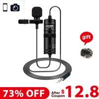 Forzago ES-116 6 м Студийный микрофон Vlogging видео воротник камера телефон микрофон для iPhone X 8 Andoid телефон Canon DSLR microfono