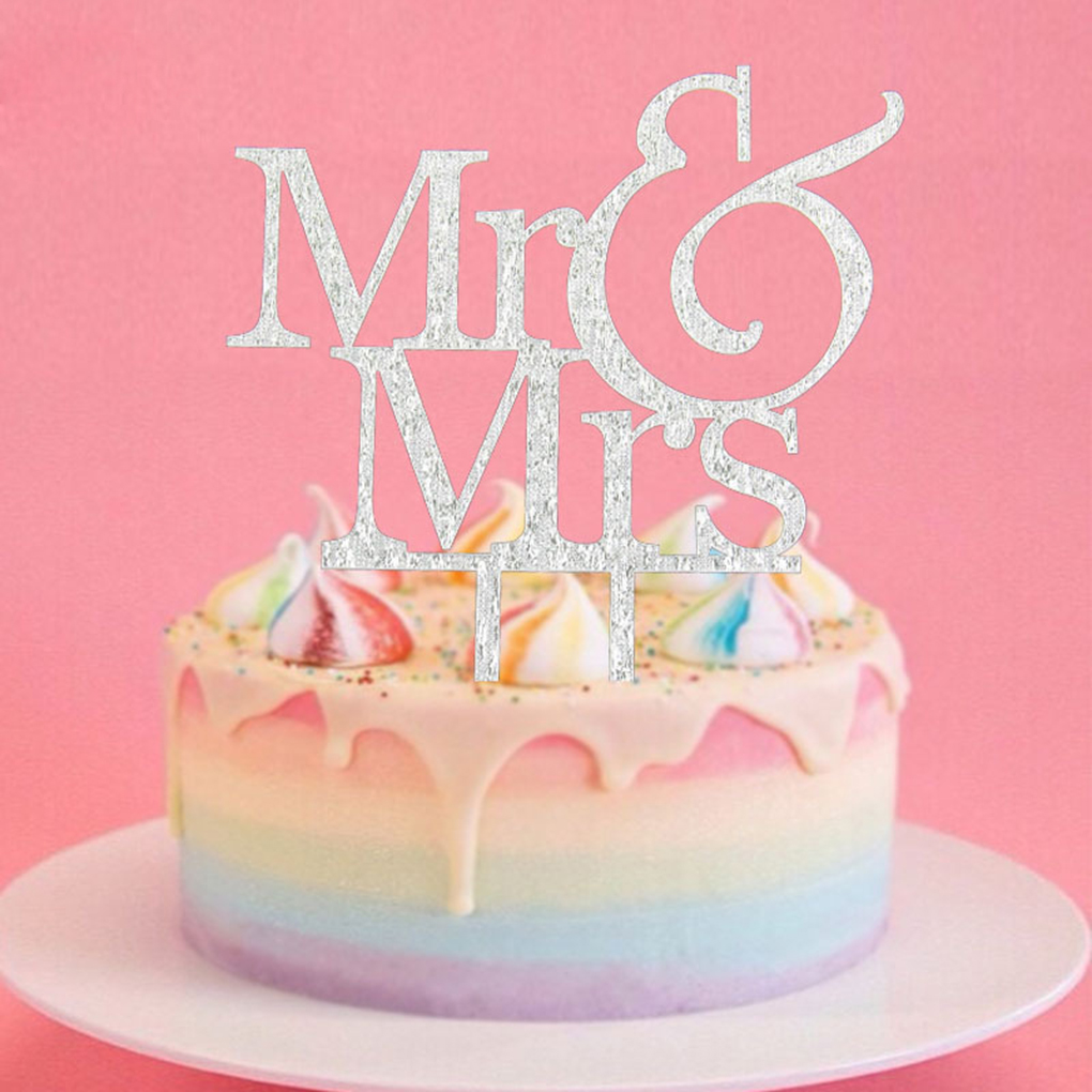 Mr & Mrs Acrylic Cake Topper Cake Insert Card Wedding Cake ...