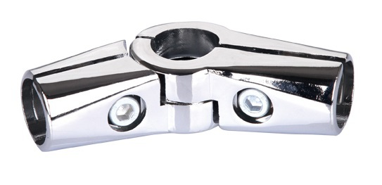 5PCS LOT 25mm tube clamp pipe clamps chrome aluminum display fittings Adjustable Elbow