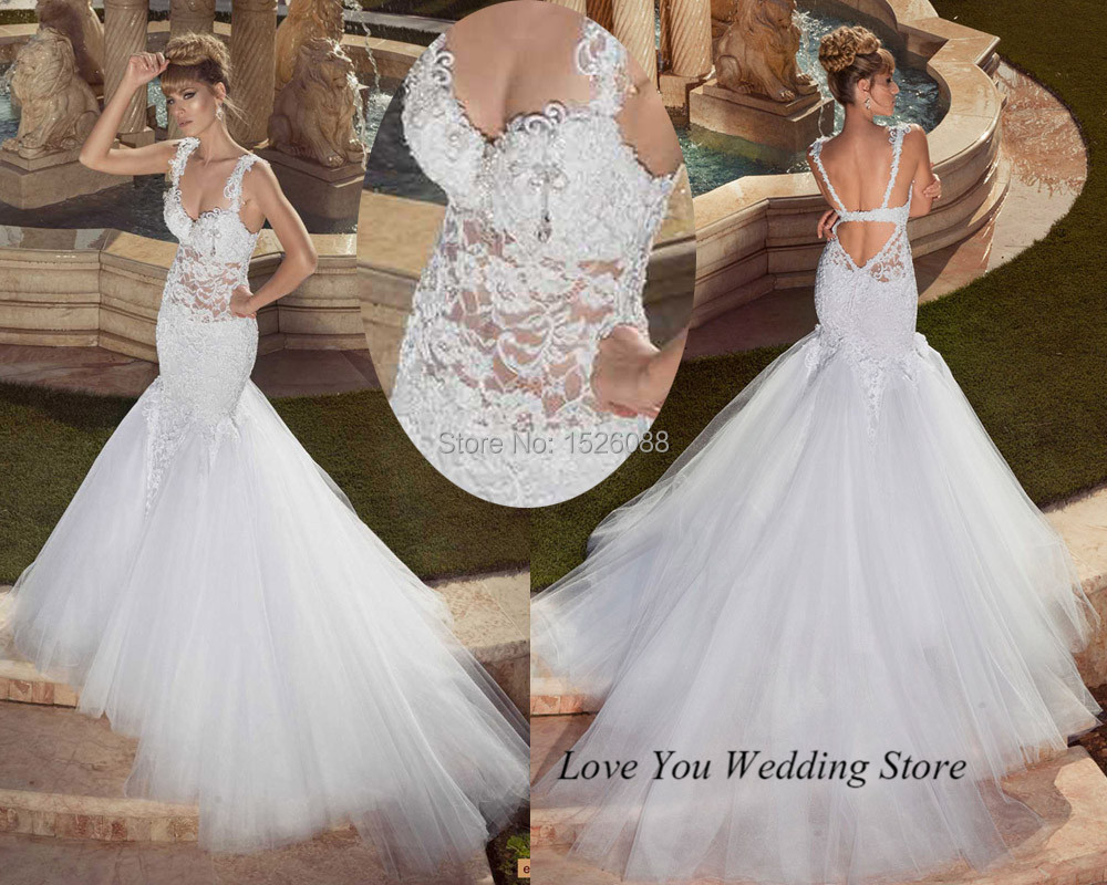 Backless Wedding Gowns: Summer Sexy Backless Wedding Dresses 2015 Russian Style