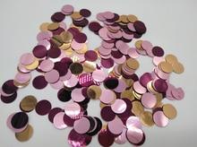 Free ship lot of 30g vintage Metallic PINK ROSE GOLD PLUM DOT Christmas table confetti wedding birthday party decoration
