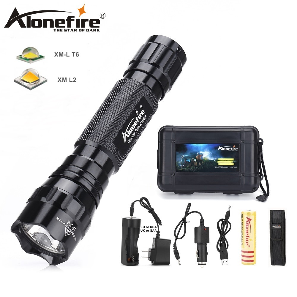 AloneFire 501Bs XM-L T6 Aluminum Waterproof Cree Led Flashlight lantern Torch Tactical hunting light 18650 Rechargeable Battery ballscrew sfu1610 l200mm ball screws with ballnut diameter 16mm lead 10mm