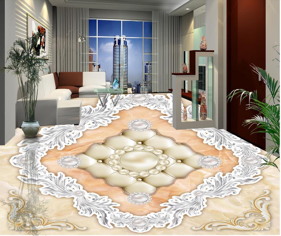 Aliexpress Com Buy European Style 3d Floor Tiles Mural