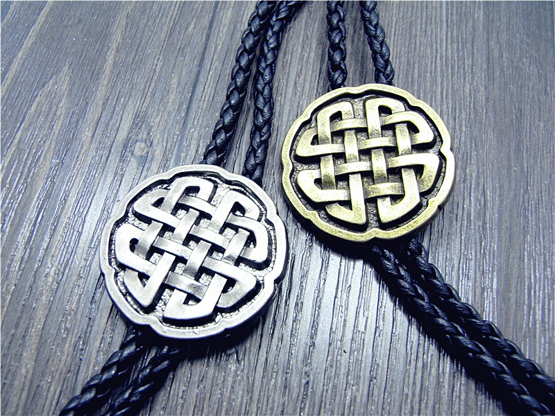 Bolo Tie New Retro Shirt Chain Lucky Knot Collar Necklaces Long Neckties Pendant