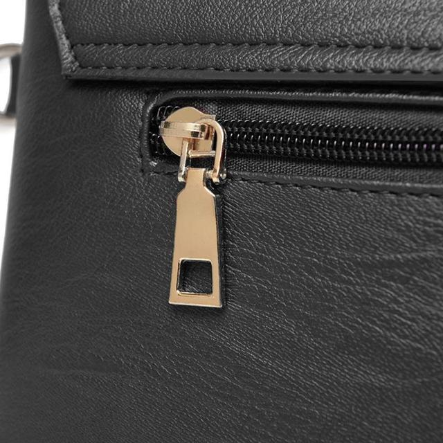 Women Solid Sling Crossbody Handbags PU Leather Ladies Small Shoulder Messenger Bags Female Pure Color Casual Soft PU Handbag 4