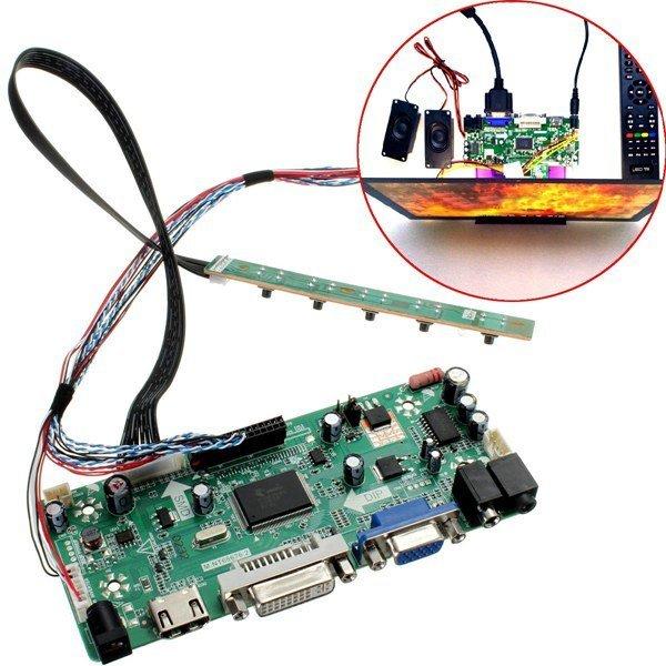 LCD Controller Board HDMI DVI VGA Audio PC Module Kit For 15.6 Inch Display B156XW02 1366X768 lcd panel Free Shipping