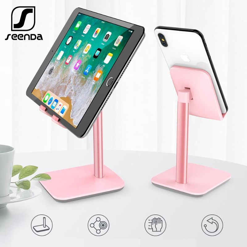 SeenDa Phone Stand for iPhone Xiaomi Huawei Samsung Desktop <font><b>Holder</b></font> Stand Mount Universal for iPad <font><b>Smartphone</b></font> Tablet 7-10