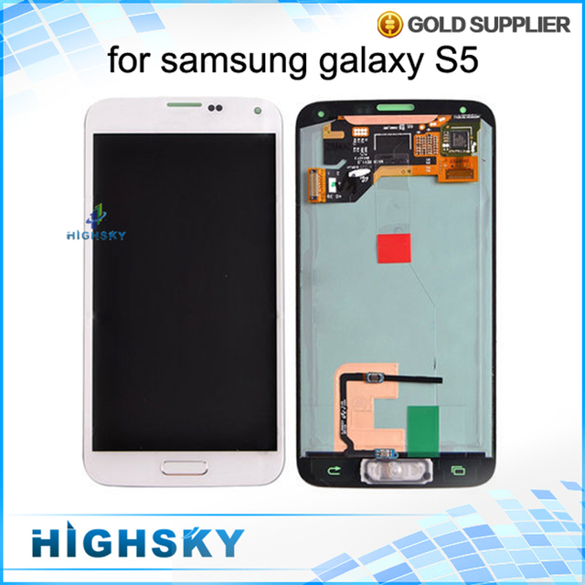 Tested Display For Samsung Galaxy S5 LCD i9600 SM-G900 SM-G900F G900 LCD With Touch Screen Digitizer AAA 1 Piece Free Shipping