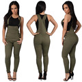 Womens Sexy Backless Jumpsuit Overalls Sleeveless Rompers Summer Casual Denim Jumpsuits Playsuit Bodysuit YF255