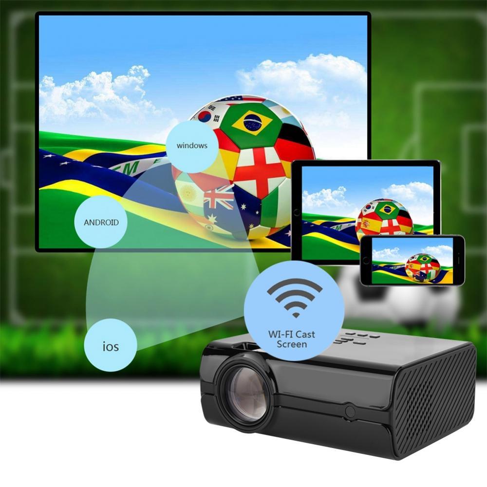 Home Entertainment-system Unterhaltungselektronik Gutherzig 7500 Lumen Bluetooth 4,0 Für Android 7.0 16,7 Karat Farben Heimkino Projektor 16:9/4:3 Optische Trapez Einstellung Projektor