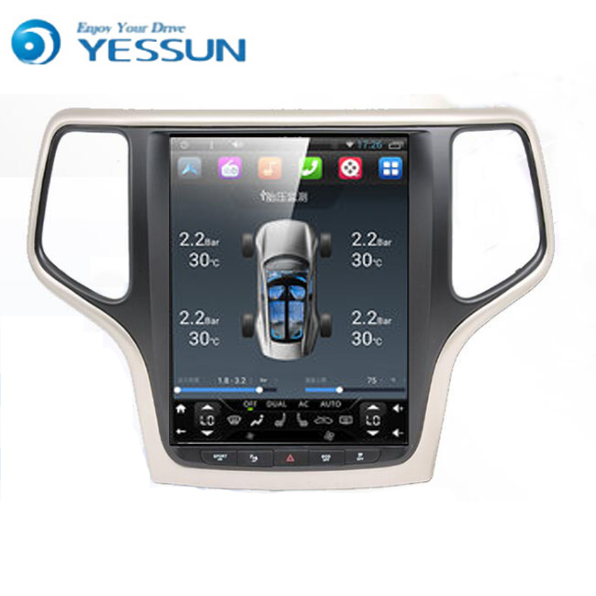 Yessun Android Car Navigation GPS For Jeep Grand Cherokee Big Screen HD Touch Screen Multimedia Stereo Player Audio Video Radio.