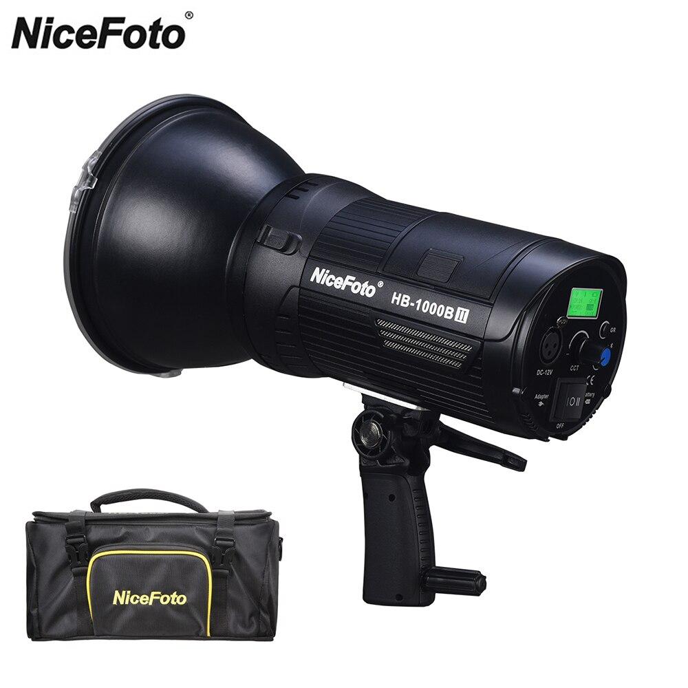 Nicefoto 100W 20,000lux@1m Bowens Mount CRI/TLCI 95 Portable COB LED Video Light For Broadcasting Interview PK Aputure 120D II