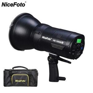 Nicefoto 100 Вт 20,000lux @ 1 м крепление Bowens CRI/TLCI 95 портативный COB LED видео свет для вещания интервью PK Aputure 120D II