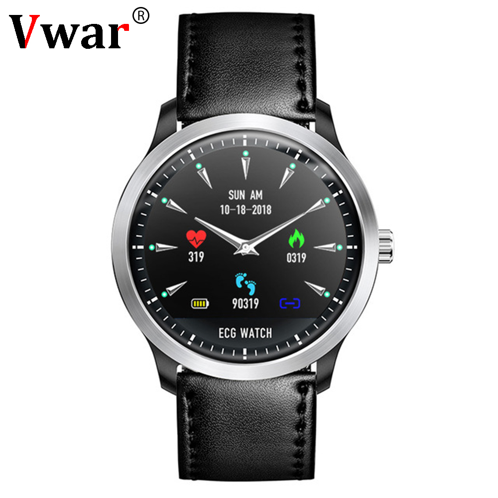 2019 New Vwar ECG PPG smart watch with electrocardiograph ecg display holter ecg heart rate monitor blood pressure smartwatch