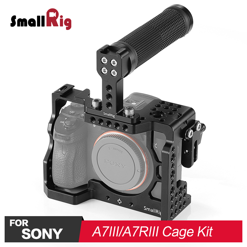 SmallRig A7M3 Camera Cage Kit for Sony A7R III / A7III Camera comes with HDMI lock & Rubber Top Handle Grip-in Camera Cage from Consumer Electronics    1
