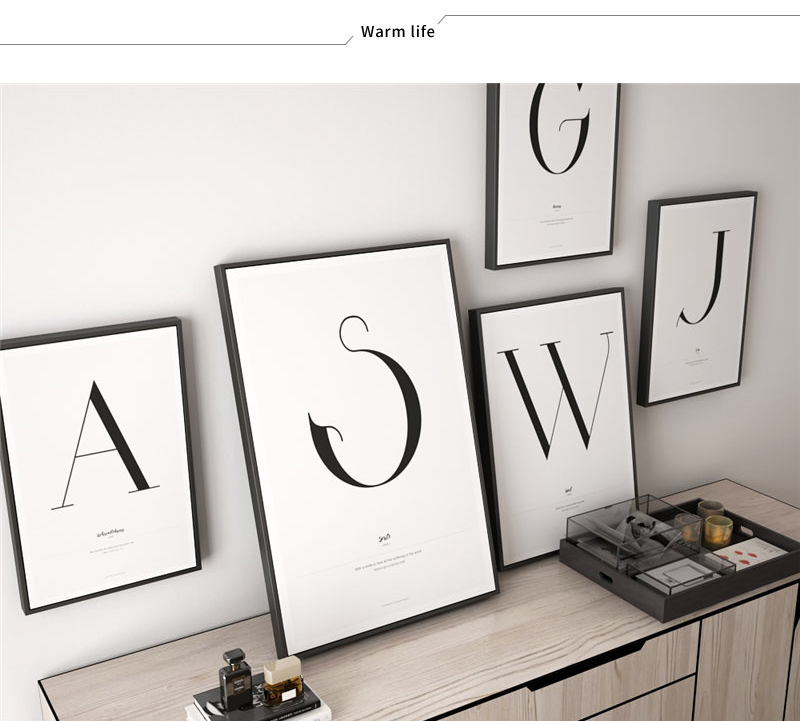 HTB1BAQ3UXzqK1RjSZFoq6zfcXXaF Quote Words Nordic Art Home Decor Nordic Canvas Painting Wall Art Kids Bedroom Posters and Prints for Living Room Wall Painting