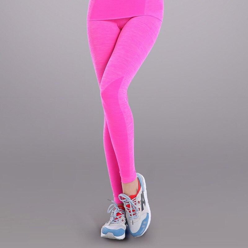 Сексуальная Push up леггинсы Для женщин Gymming Высокая Талия быстрый сухой Бодибилдинг тренировки спортивных работает тонкий Фитнес yogaing Костюмы одеть - Цвет: Розовый
