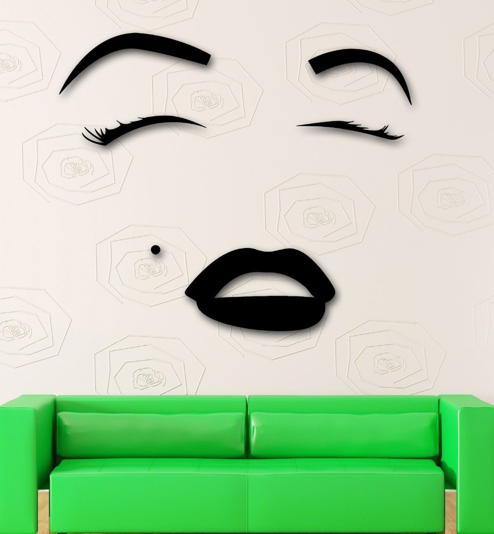 Beauty salon vinyl wall decal hot sexy girl eyes lips beauty salon beauty salon vinyl wall decal hot sexy girl eyes lips beauty salon makeup mural art wall sticker salon bedroom home decoration in wall stickers from home amipublicfo Images