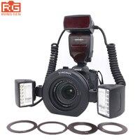 YONGNUO YN-24EX E TTL Macro Flash Speedlite Dubbele Hoofd flash-LED licht voor Canon 5 DIII 5DII 5D 6D 7D 80D 70D 60D 50D 750D