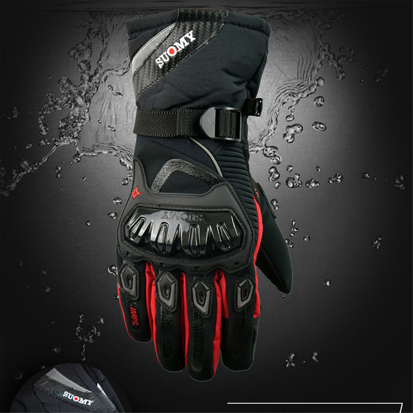 Suomy Waterproof Full Finger Pro Moto Motorcycle Gloves Windproof Motorbike Luvas Cycling Racing Sport Guantes de la motocicleta