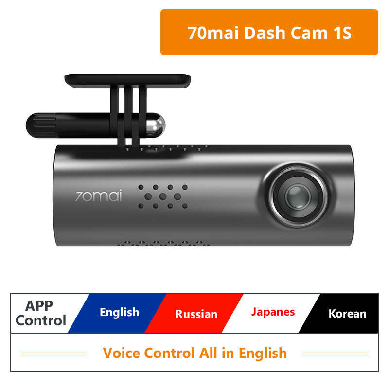 מקורי Xiaomi 70mai 1S רכב DVR מצלמת דאש 1080P HD לילה גרסה אנגלית קול בקרת רכב מצלמה דאש מצלמת רב שפה