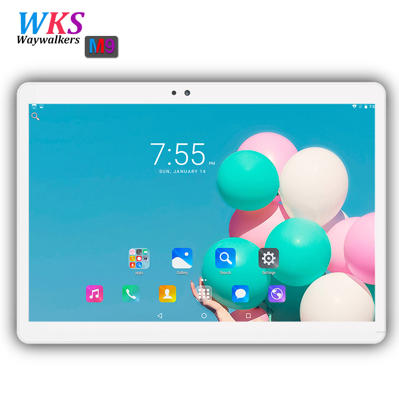 Free shipping 10 inch Tablet PC 3G/4G LTE android 7.0 Octa Core 32/64GB Dual SIM Card  WIFI GPS 1920*1200 IPS tablets pc 10.1 10 free shipping support vpn f3846 lte dual sim 4g router for atm kiosk