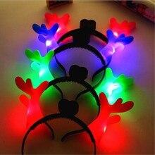 La cabeza del LED luminoso antler diadema aro aro luminoso bar fiesta de Navidad esencial