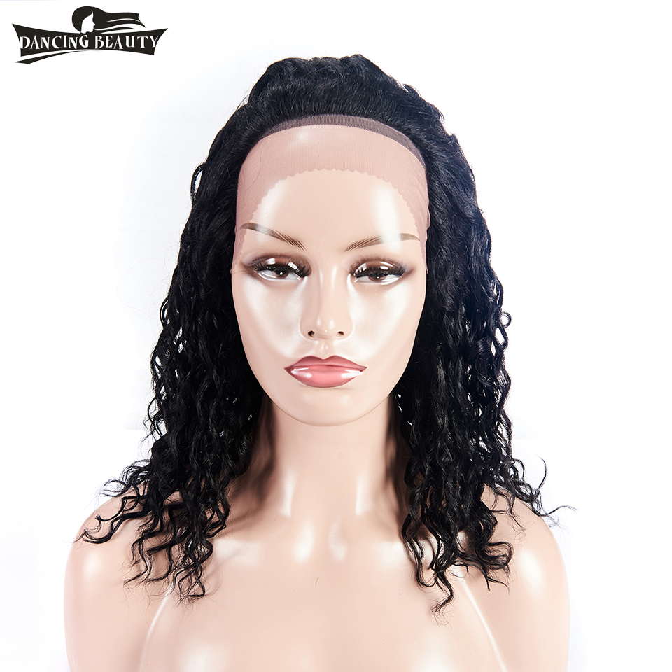DANCING BEAUTY Brazilian Water Wave Lace Front Human Hair Wigs For Women Non Remy Hair L ...