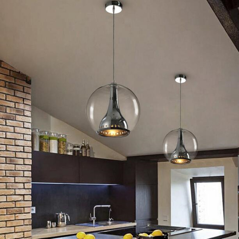 Vintage Pendant Light Glass Globe Lamp For Kitchen Dinging Room Modern Hanging Fixtures Home Lighting In Lights From