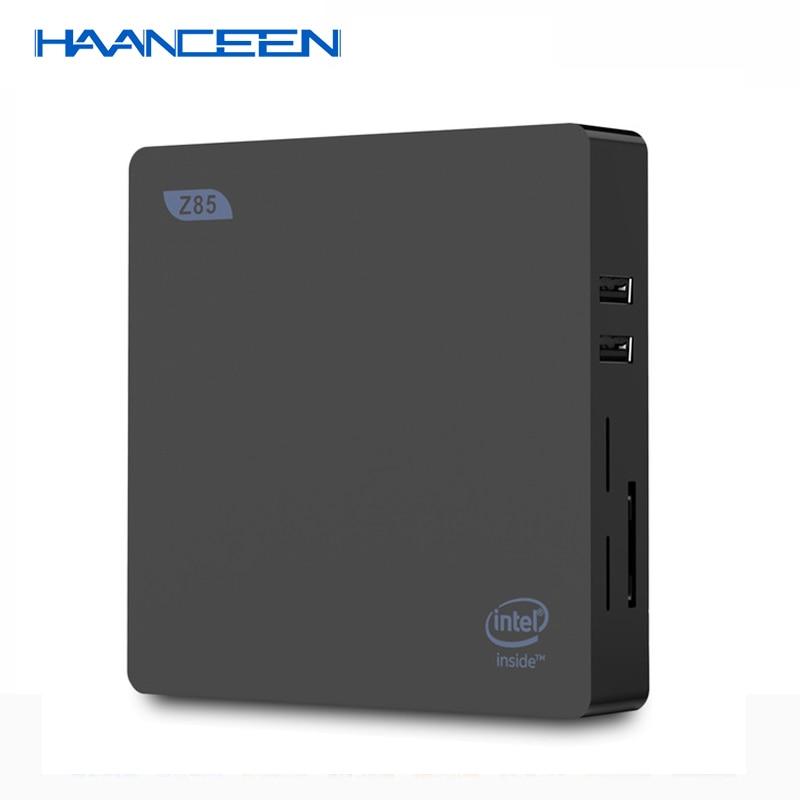 MINI PC Z85 Smart TV Boxes Mini PC Intel Atom X5-Z8350 Quad Core 2G 32G 64G 1000M Wins 10 2.4G 5.8G Dual Bnad WiFi VGA