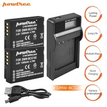 2Pcs DMW-BCG10 BCG10 BCG10E Battery 3.6V 1300mAh+Battery charger with LED for Panasonic Lumix DMC-ZS19 DMC-ZS20 DMC-ZS25 ZX1 L10