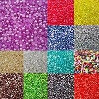 LNRRABC 300 Piece Lot 6MM Half Round Acrylic Imitation Pearl For Jewelry Making Decoration Nail Art