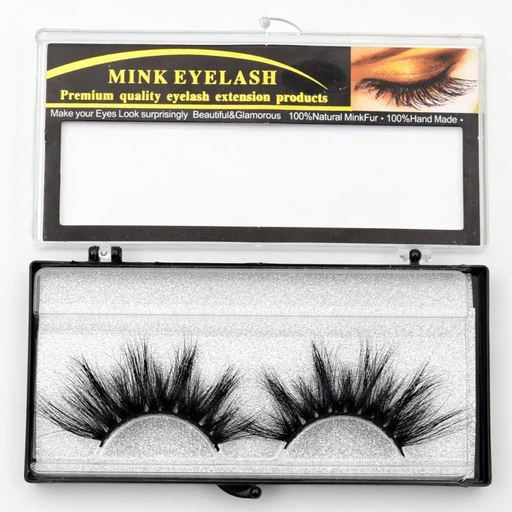 e6207cc55ea ... Visofree Mink Eyelashes False Eyelashes Natural Fake lashes Long 25mm  Lashes Makeup 3D Mink Lashes Extension ...