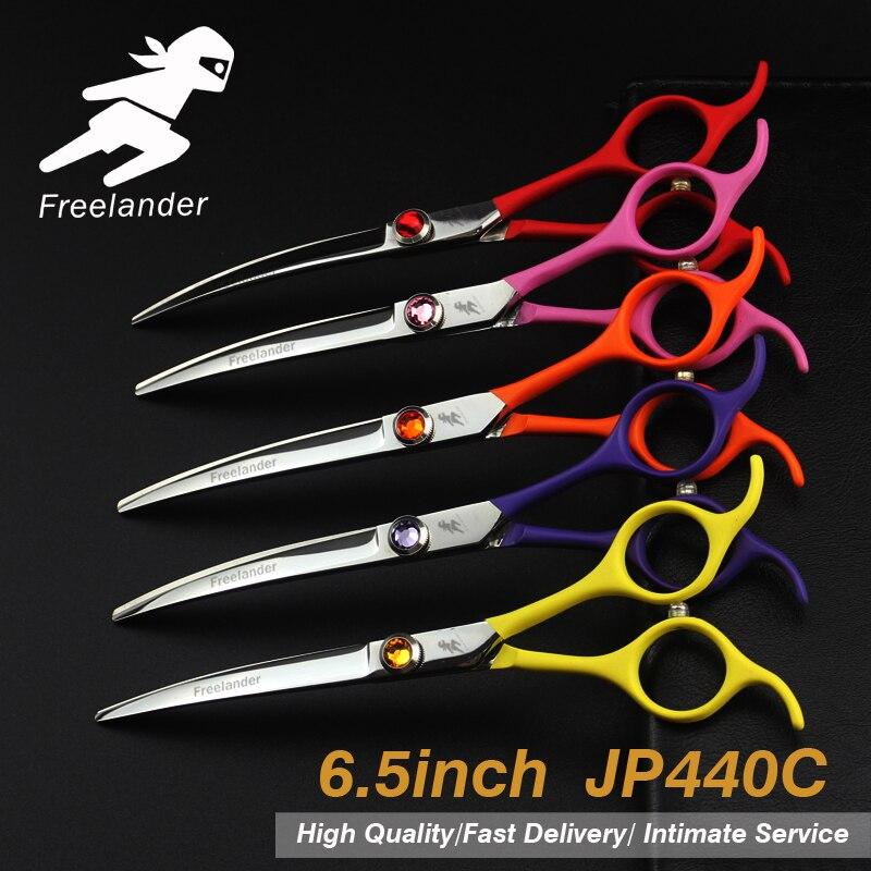 Ensemble de ciseaux de toilettage pour animaux de compagnie de 6.5 pouces coupe droite dents coupe ciseaux os de poisson japon 440c