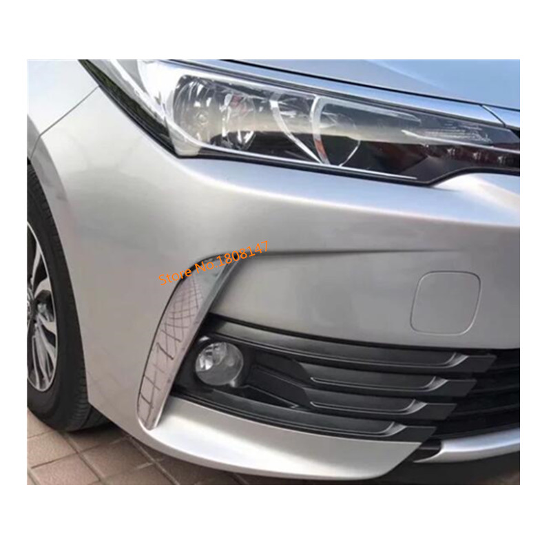 ABS Chrome Front Fog Light Lamp Cover Trim 2pcs for Toyota Highlander 2008 09 10