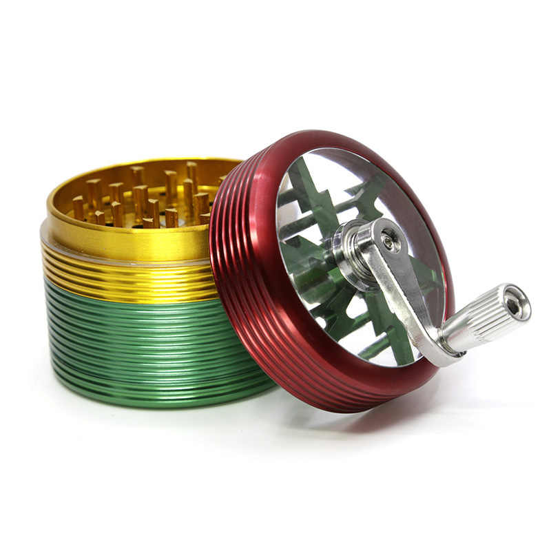 new stlyle 4layers 63mm aluminium alloy thread herb grinder multi colors 8805
