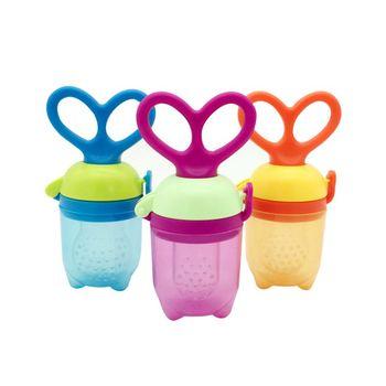 Kids Pacifier Fresh Food Milk Nibbler Feeder Nipple Feeding Kids Candy Color Nipple Bottles Safe Baby Supplie Feeding Nibbler