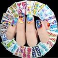 1000 Folhas Flor Watermart Água Transferência Nail Art Sticker Wraps Unhas Adesivos Decalques