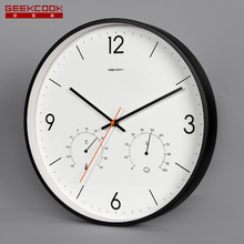 Geekcool Brand 14 inches Multi-function Mute creative silent living room Quartz wall clock Round Modern home decor Big clock