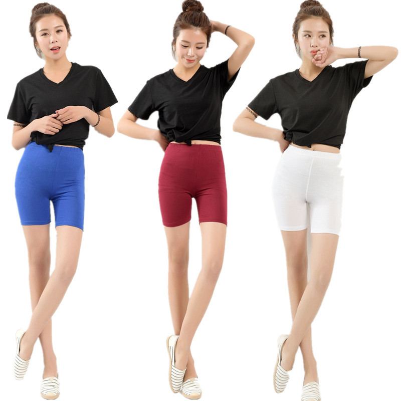 New Arrival Summer style big elastic Plus size 5XL 100Kg high-waisted Candy Colors   Shorts   women   short