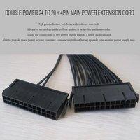5pcs Upgrade 24pin 20+4pin Dual PSU ATX Power Supply Adapter Cable For Mining