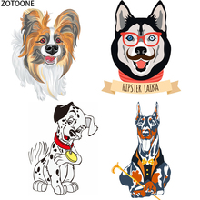 ZOTOONE Fashion Puppy Iron on Patch for T-shirt Washable Appliques Heat Transfer Stickers on Clothes Applications Patches Thermo zotoone fashion puppy iron on transfer patch for clothing cartoon animals decors on t shirt applications clothes diy accessories
