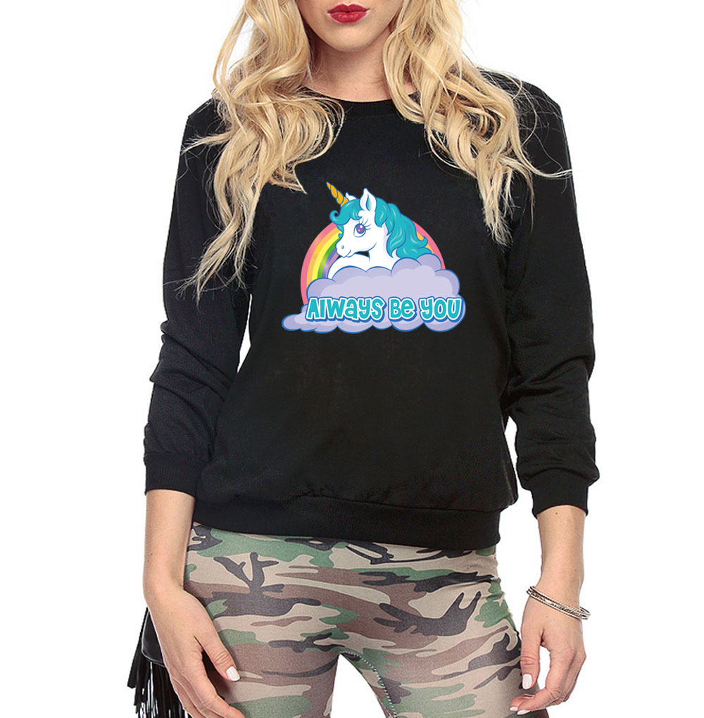 kawaii woman's printing hoodies for women 2019 autumn winter always be you sweatshirts femme streetwear harajuku pullovers hoody