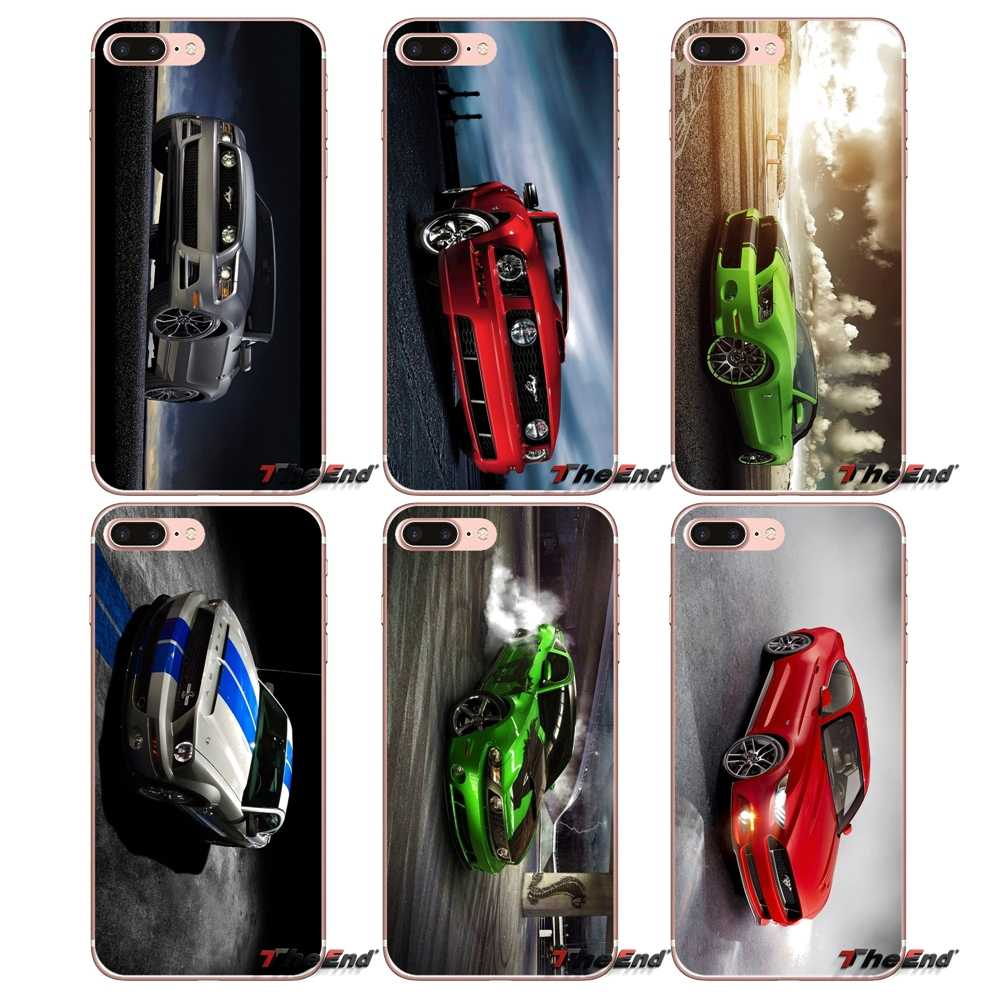 Para iPhone 4X4 4S 5 5S 5C SE 6 6 S 7 8 Plus, Samsung Galaxy J1 J3 J5 j7 A3 A5 2016 Ford 2017 GT Mustang Supre coche TPU caso suave
