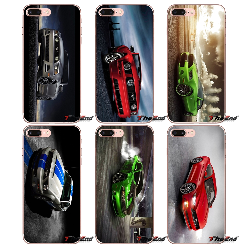 For iPhone X 4 4S 5 5S 5C SE 6 6S 7 8 Plus Samsung Galaxy J1 J3 J5 J7 A3 A5 2016 2017 Ford GT Mustang Supre Car Soft TPU Case