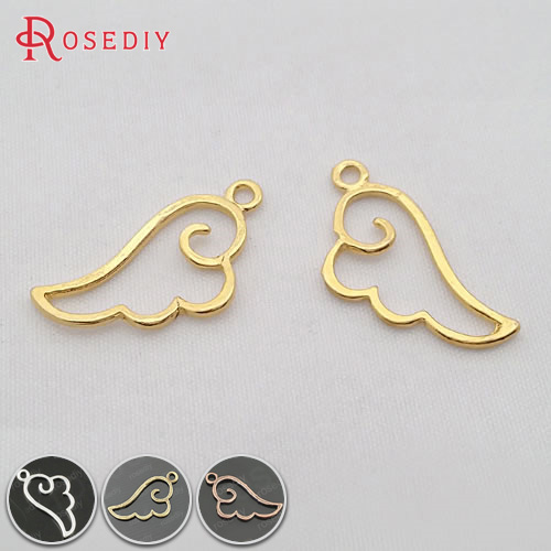 (29928)50PCS 27x14MM Silver Color Zinc Alloy Wings Charms Pendants Diy Jewelry Findings Accessories Wholesale